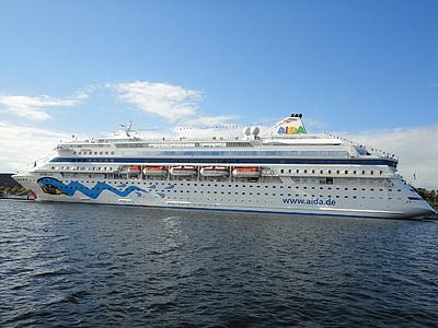 gemi, bağlantı noktası, yolcu gemisi, Kiel, Baltık Denizi, Aida, Aida cara