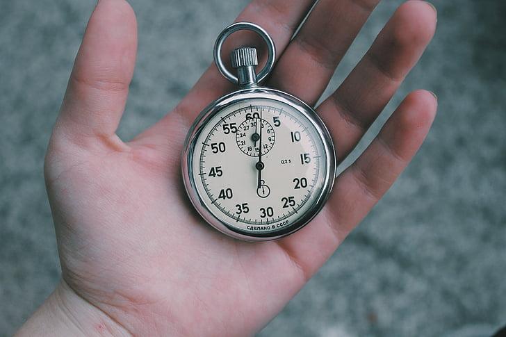 reloj, mano, reloj de bolsillo, cronómetro, tiempo, contador de tiempo, reloj