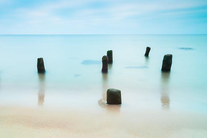 Mar, Zen, Costa, pedres, platja, Mar Bàltic, àmplia