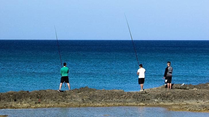 friends, fishing, leisure, recreation, sea, hobby, fisherman