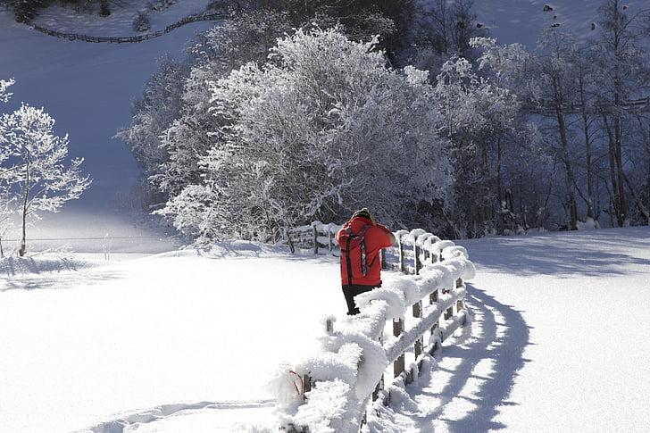 wintry, snow landscape, valsertal