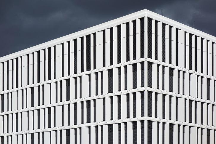 hoonete, arhitektuur, kaasaegne, disain, read, ehitatud struktuur, hoone välisilme