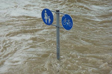 marée haute, Bouclier, réglage, eau, des inondations, inondées, environnement
