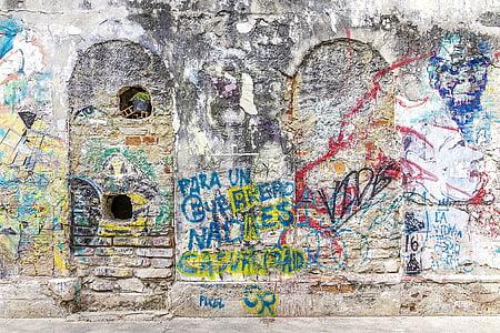 tło, graffiti, grunge, sztuka ulicy, graffiti ściany, sztuki graffiti, Artystyczny