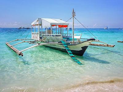 Filipinai, Boracay, baltas paplūdimys, paplūdimys, jūra, Sulu jϋra, vandens