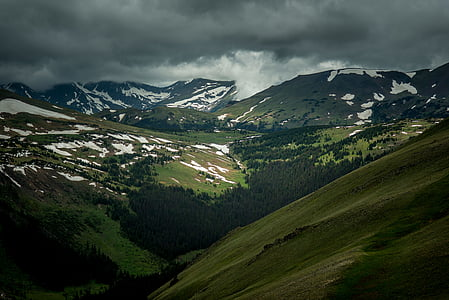 cloudy, grass, landscape, mountains, nature, outdoors, scenic