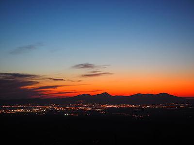 Sky, blå, Orange, pastell, pastellfarben, Palma, Palma de mallorca