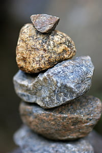stones, tower, balance, stacked, isolated, steinmann, stone tower