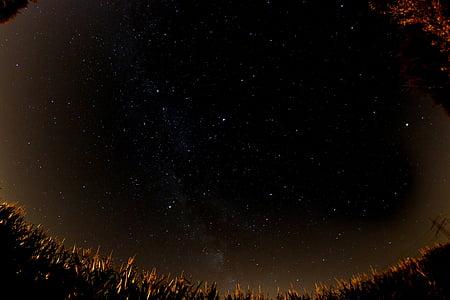 Млечния път, звезда, нощ, нощното небе, звездното небе, Вселена, небе