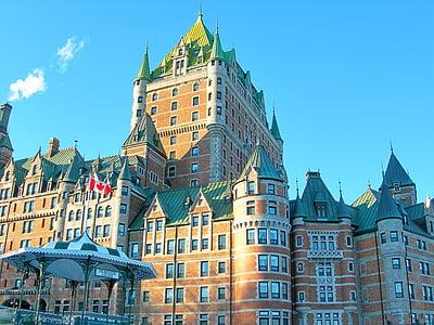 Québec, Castle, Frontenac, River, Old quebec, City, muistomerkki