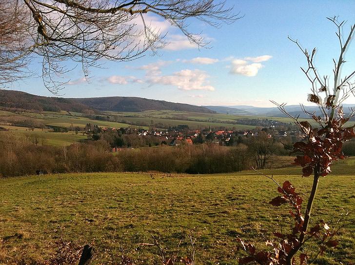 poble, les pastures, turó
