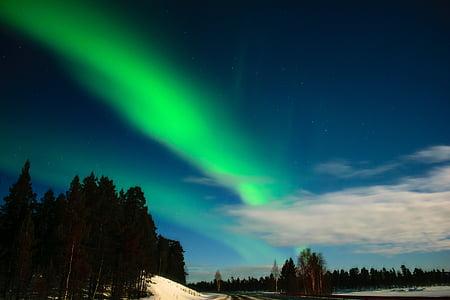 Aurora, aurora borealis, finske lapland, Inari, natur, scenics, skønhed i naturen