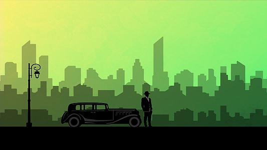 auto, 20e eeuw, licht, vervoer, verzadigd, regels, Vintage