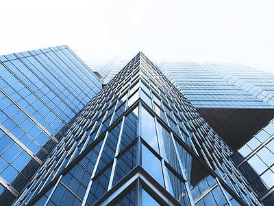 arquitectura, edifici, gratacels, gratacels, Windows