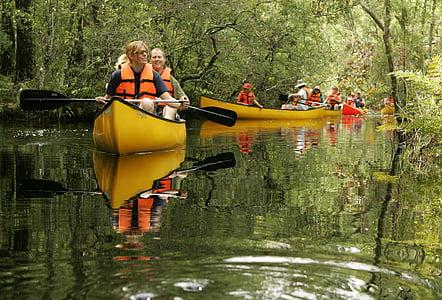 canoë, rivière, bateau, eau, nature, Recreation, sport