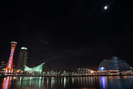 japan, osaka, osaka night view, night view, umeda, kobe tower, mosaic