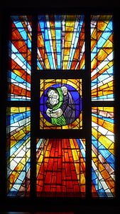 Multi, krāsainu, stikls, dekori, logu vitrāžas, pagasts, Pusēna