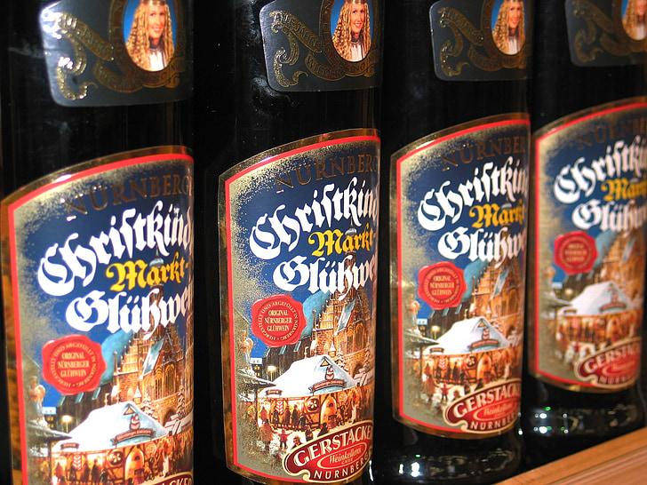甜酒, 圣诞节, 冬天, 来临, 业务, 瓶颈, 圣诞市场
