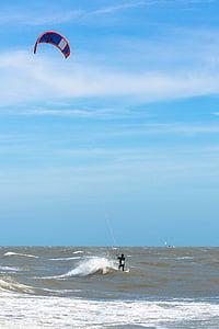 kite surfeur, vent, mer, Sky, surfeur, Surf, sport