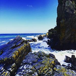 Badia, platja, penya-segat, Costa, illa, paisatge, natura