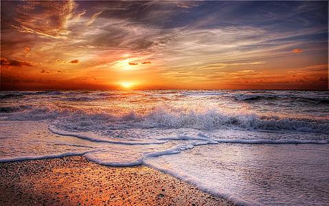 Danemark, mer, plage, mer du Nord, Côte, paysage, eau