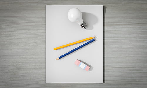 idea, buit, document, ploma, bombeta, no hi ha, creativitat