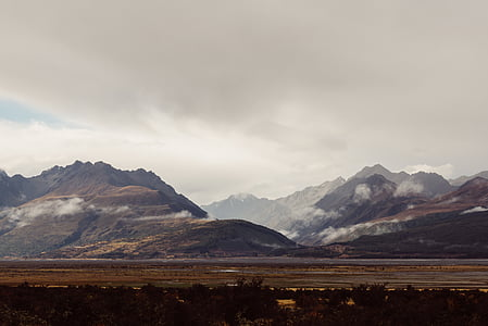 mist, landschap, berg, natuur, buitenshuis, schilderachtige, sneeuw