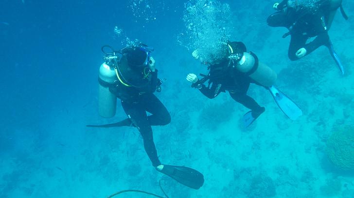 ronioci, ronjenje, pod vodom, oceana, vode, more, aparat za disanje