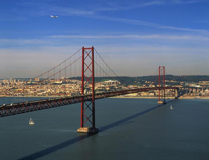 bridge, lisbon, city
