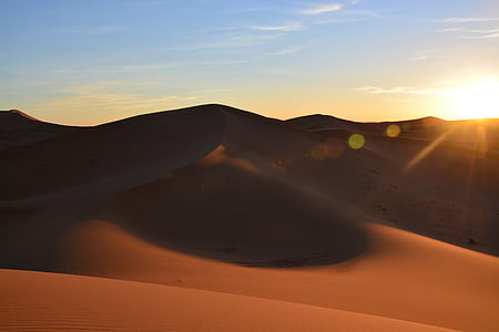 hoàng hôn, sa mạc, sa mạc Sahara, abendstimmung, cồn cát, Thiên nhiên, Cát