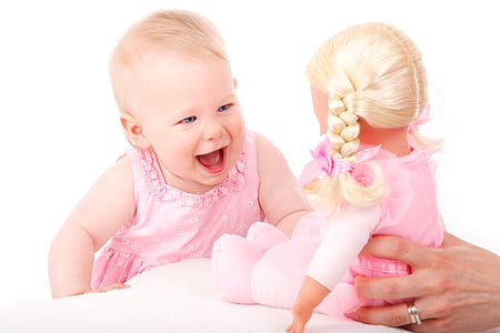 baby, cute, doll, girl, happy, toddler, toy