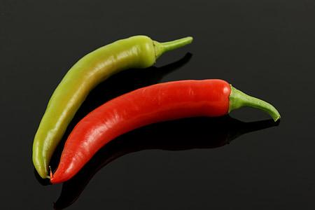 paprike, pepperonie, hrana, zelena, Crveni, povrće, oštar