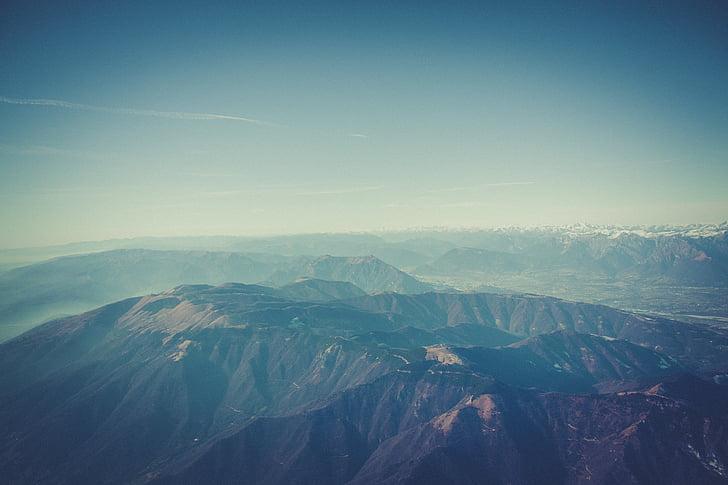 nevoeiro, paisagem, Cordilheira, montanhas, natureza, ao ar livre, céu