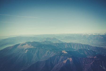 kabut, pemandangan, pegunungan, pegunungan, alam, di luar rumah, langit
