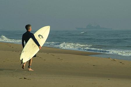 surfeur, Surf, planche de surf, Surf, mer, eau, océan