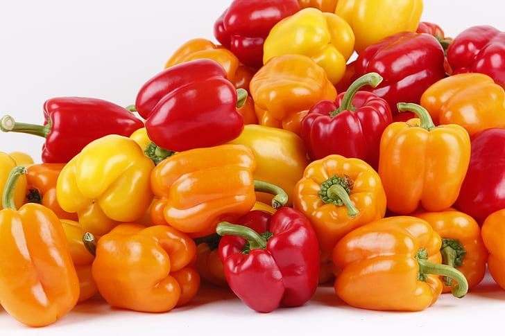 paprika, punane paprika, roheline paprika, kollane paprika, taimne