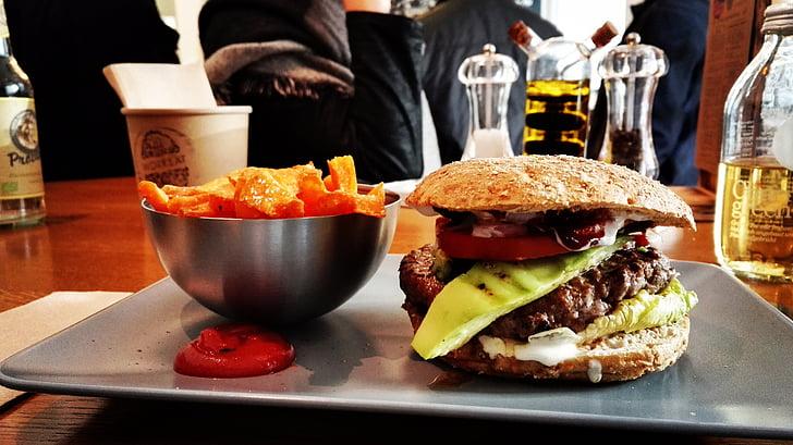 aliments, menjar ràpid, hamburguesa, hamburgueses, hamburguesa, menjar ferralla, aliments i begudes