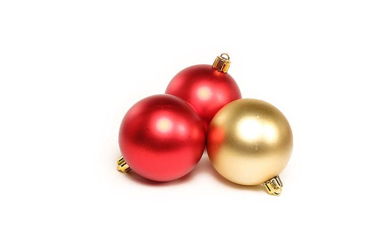 kuulid, jõulud, kaunistused, Holiday, teenetemärgi, Xmas, talvel