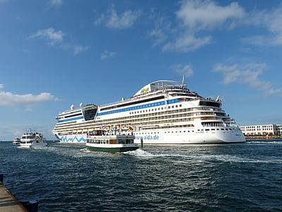 kryssningsfartyg, kryssning, havet, fartyg, Holiday, Frakt, Crusaders
