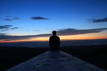 ранок, позитивний, небо, красиво, синій, помаранчевий, спосіб життя