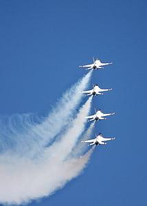 Reno airshow, repülőgépek, légi show, katonai repülőgépek, Thunderbirds, repülőgép, vadászgépek