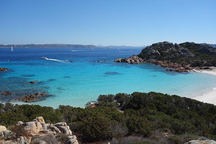 plajă, mare, Sardinia, turcoaz