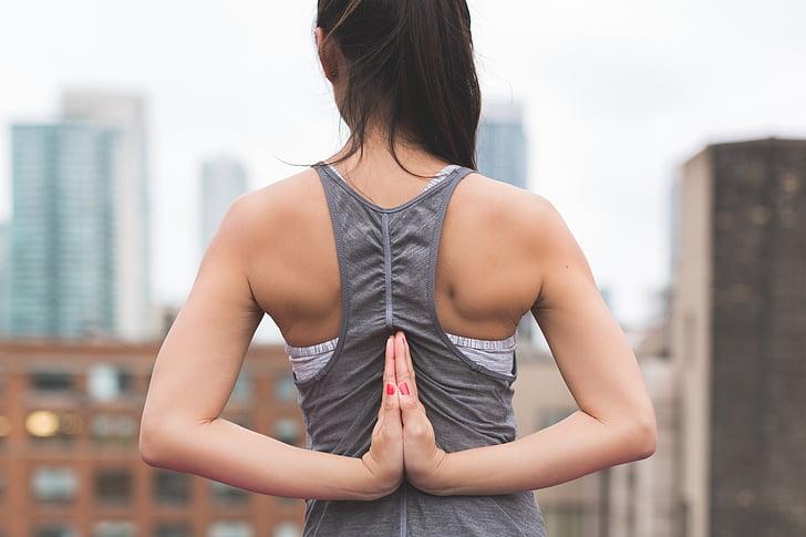 ออกกำลังกาย, สาว, สุขภาพ, คน, ผ่อนคลาย, เซ็กซี่, ยืดกล้ามเนื้อ