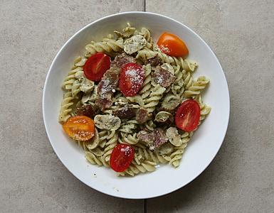 spagetid, Lääne, tomat, kirsstomatid, toidu, väike värske