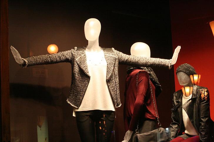 showcase, blazer, clothing, window display piece, mannequin, fashion, clothes