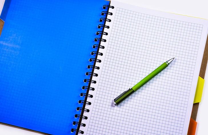 Notebook, Stift, Bleistift, Bildung, Büro, Geschäft, schreiben
