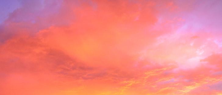 bầu trời, màu đỏ, màu da cam, màu tím, đám mây, hoàng hôn, màu xanh