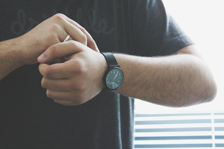 veure, xicot, home, mans, moda, accessoris, persones
