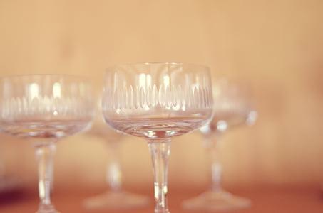 còctel, ulleres, beguda, vidre, transparents, tancar, macro