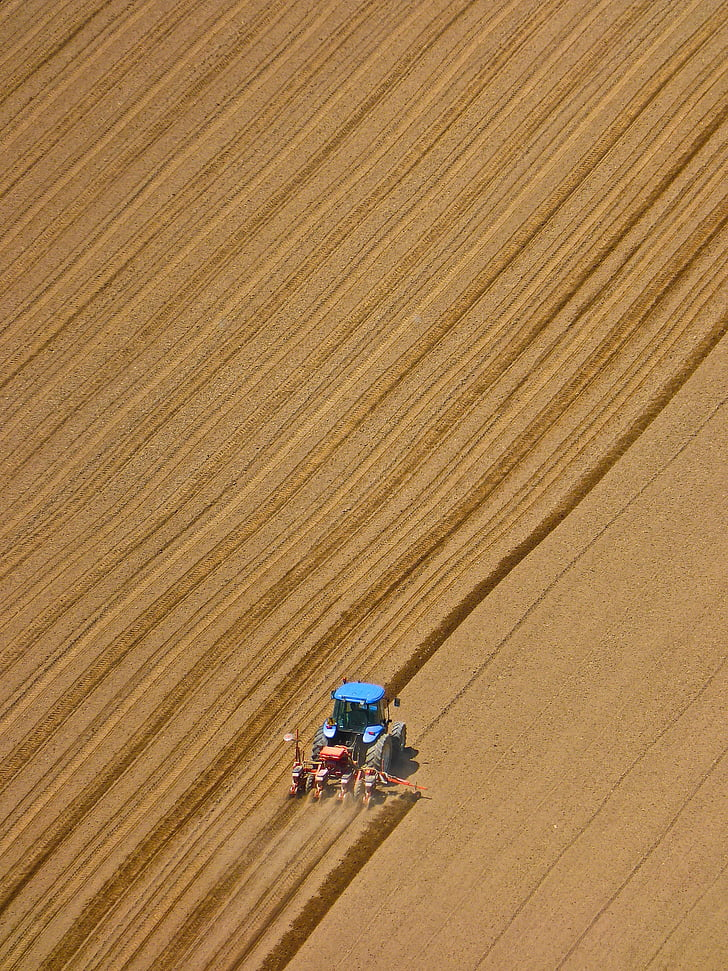 tractor, ploughing, field, agriculture, cultivation, machinery, farmer